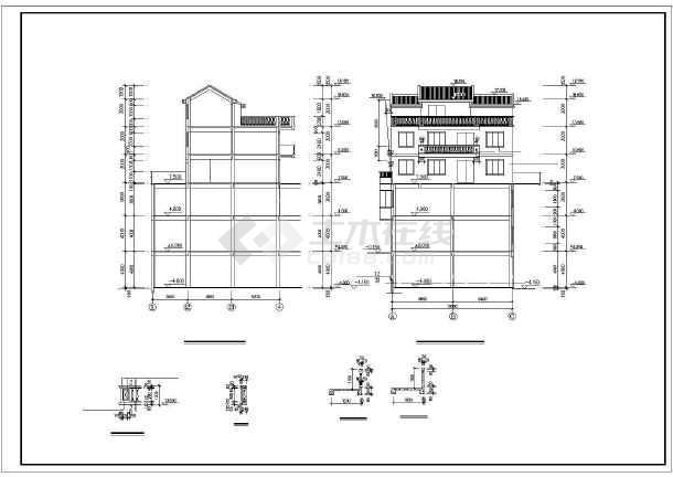 某县某商住楼建筑设计图(共11张)-图2