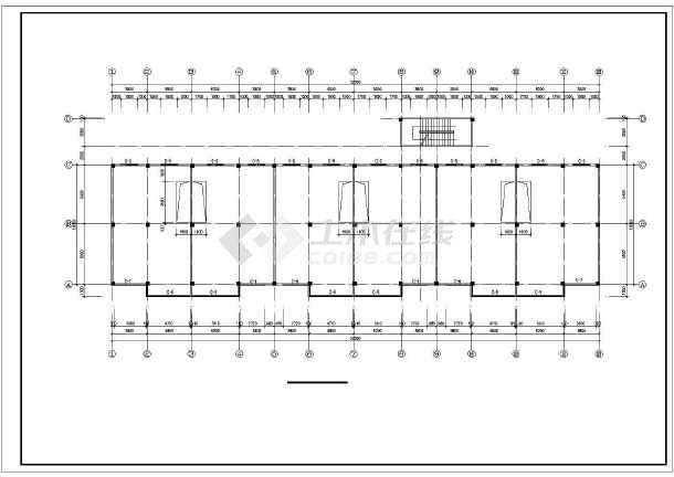 某县某商住楼建筑设计图(共11张)-图3