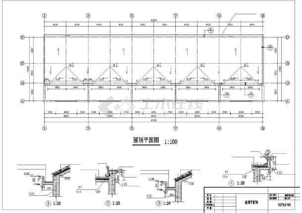 一套酒店公寓建筑cad施工图纸-图3