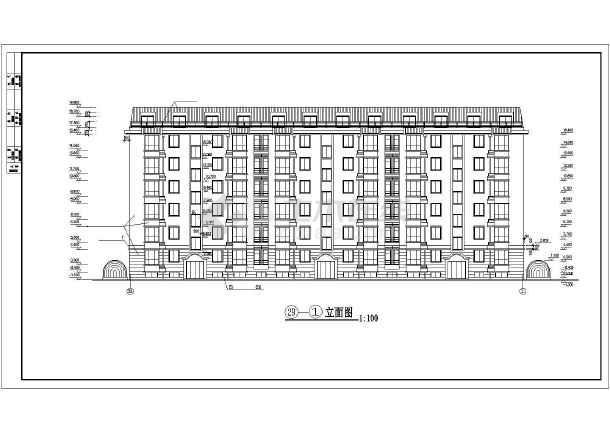 某多层住宅楼建筑施工图(共12张)-图1