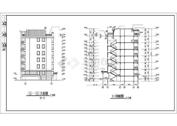 某多层住宅楼建筑施工图(共12张)-图2
