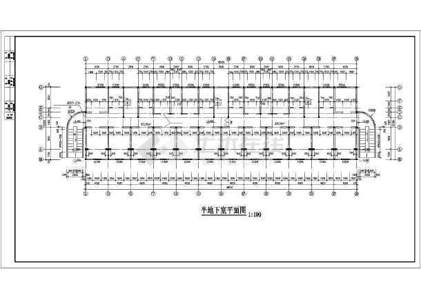 某多层住宅楼建筑施工图(共12张)-图3