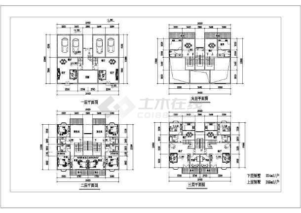 五层高档别墅建筑设计施工图-图1