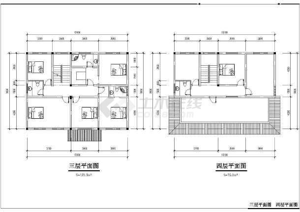 某小区徽派建筑设计方案图-图1