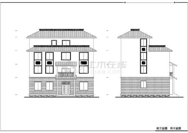 某小区徽派建筑设计方案图-图3