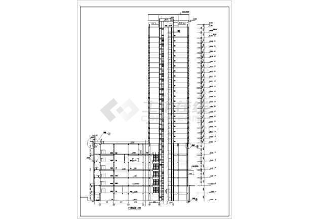 点击查看某高层住宅建筑图第1张大图