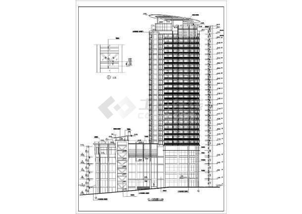 某高层住宅建筑图-图1