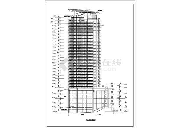 某高层住宅建筑图-图2