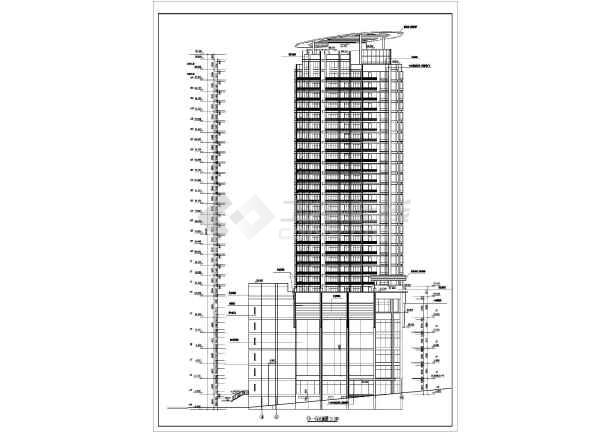 某高层住宅建筑图-图3