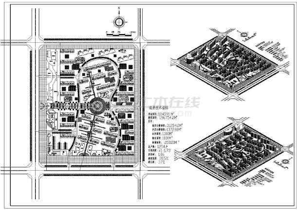 某地小区规划总平面建筑设计cad施工图-图1