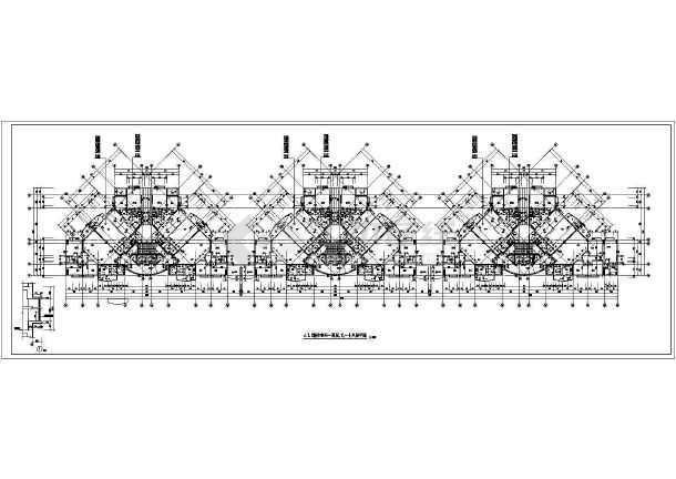 点击查看某地高层住宅楼平面建筑图第1张大图