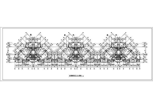 某地高层住宅楼平面建筑图-图2