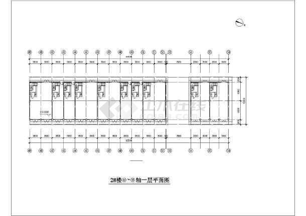 一套纺机市场建筑施工图-图1