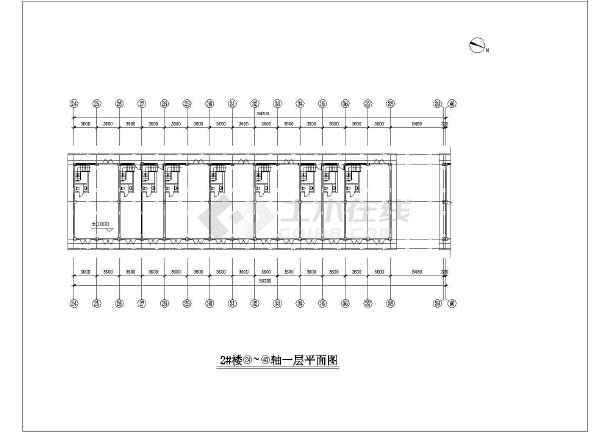 一套纺机市场建筑施工图-图2
