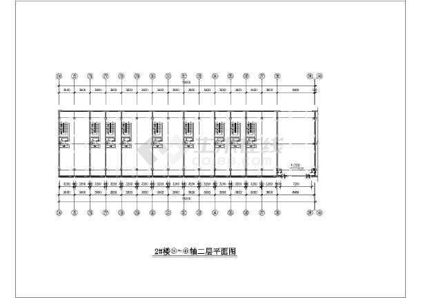 一套纺机市场建筑施工图-图3