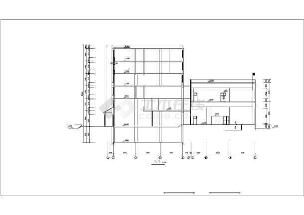 某地六层商业宾馆建筑CAD图-图1