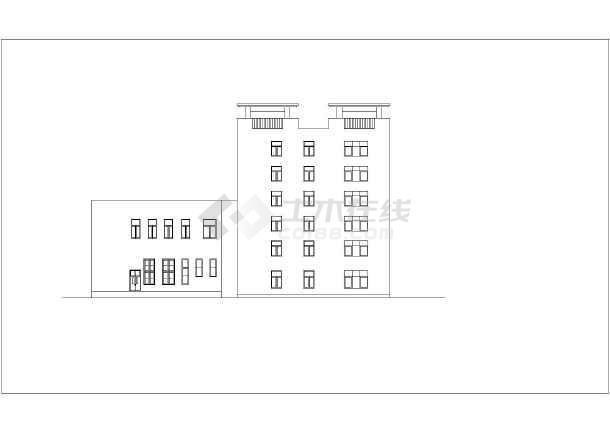 某地六层商业宾馆建筑CAD图-图3