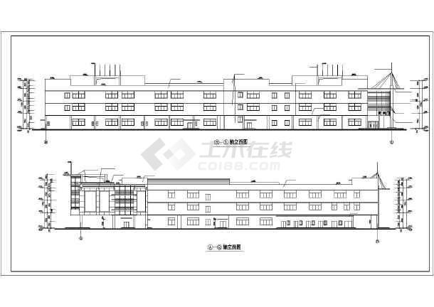 点击查看某地大型商业广场建筑施工图(共10张)第1张大图