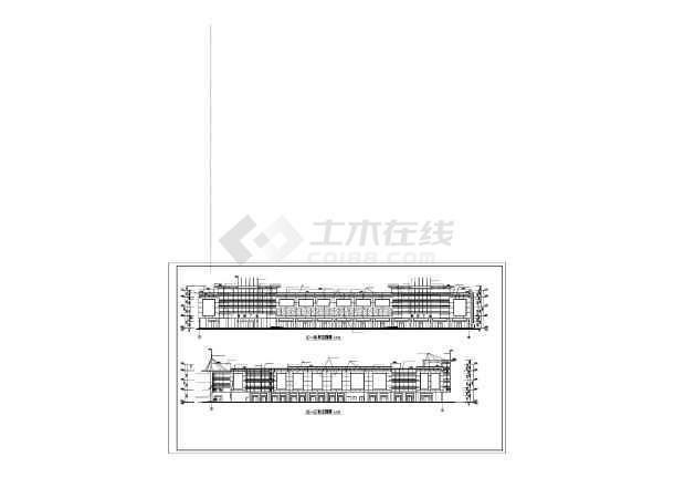 某地大型商业广场建筑施工图(共10张)-图1