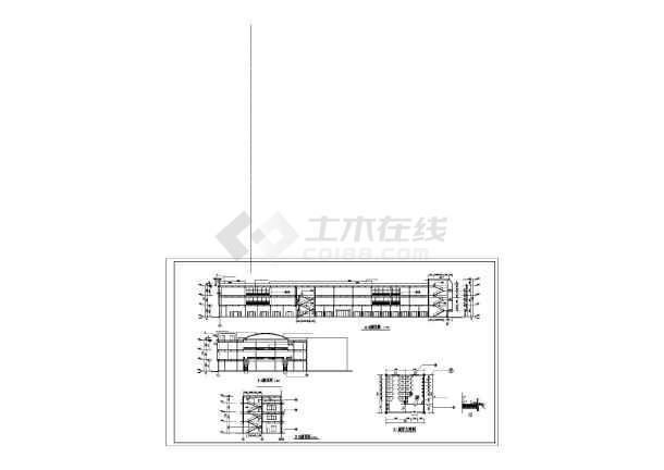 某地大型商业广场建筑施工图(共10张)-图2