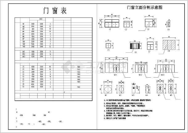 某地大型商业广场建筑施工图(共10张)-图3