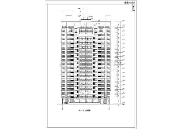 某高层住宅小区12号楼建筑施工图(全套)-图1