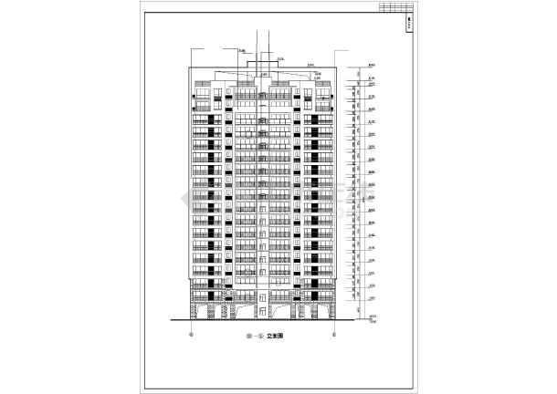 某高层住宅小区12号楼建筑施工图(全套)-图2