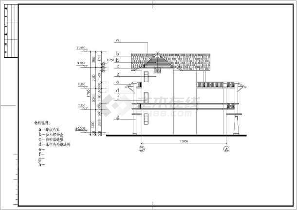 山庄别墅建筑设计施工图-图1