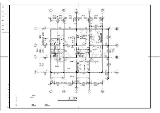 山庄别墅建筑设计施工图-图3