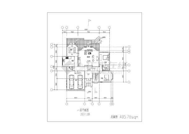 某地小别墅建筑方案图-图1