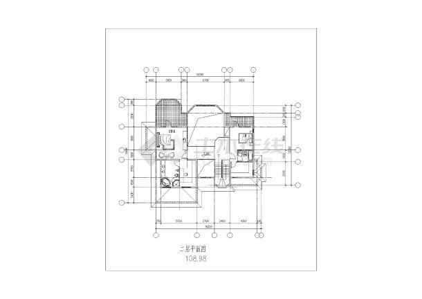 某地小别墅建筑方案图-图2