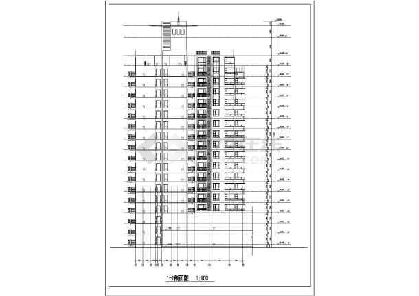 某高层住宅楼建筑设计图-图2