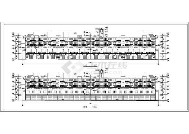 某地某住宅建筑施工图(共7张)-图1