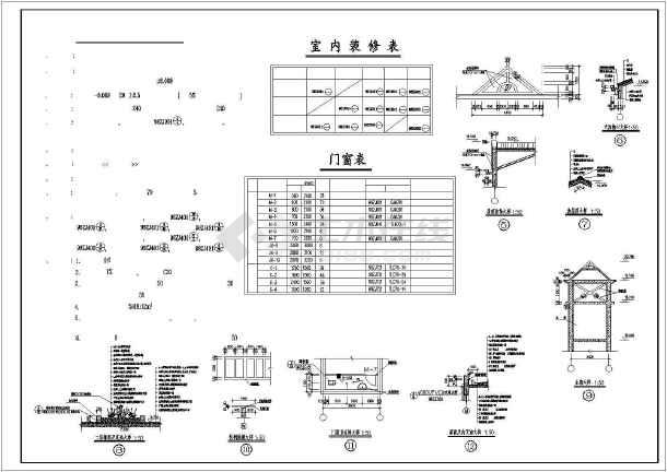 某地某住宅建筑施工图(共7张)-图2