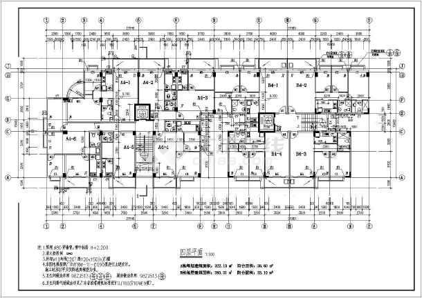 点击查看某地大型高层商住楼建筑图第1张大图