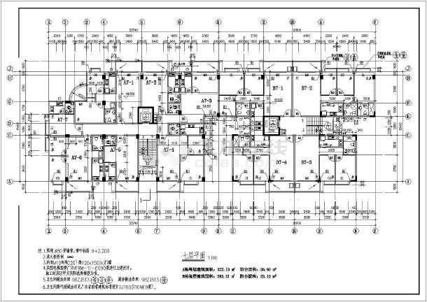 某地大型高层商住楼建筑图-图3