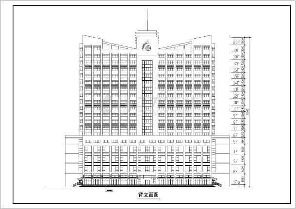 某地大型高层酒店建筑方案图-图一