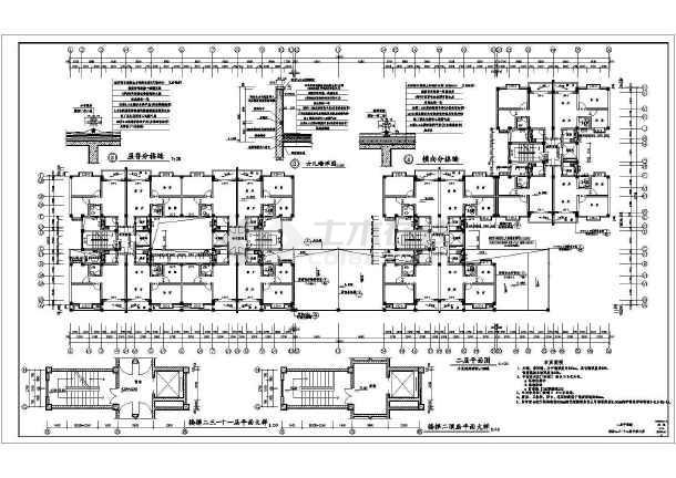 高层住宅楼全套施工图-图2