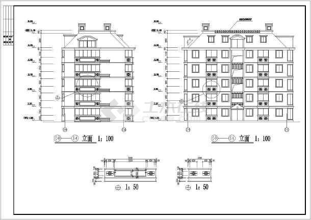 某地某山水公寓2号楼建筑设计图(共15张)-图1