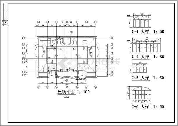 某地某山水公寓2号楼建筑设计图(共15张)-图3