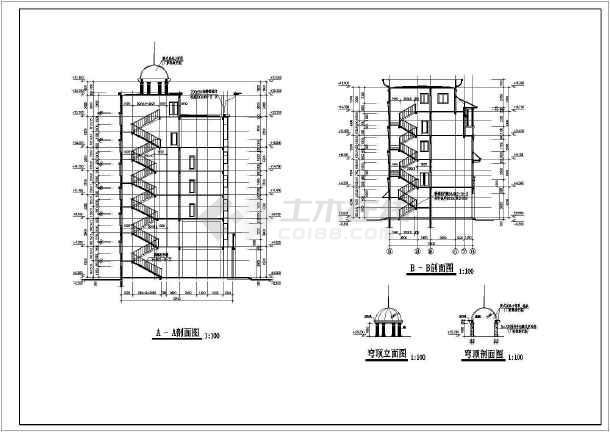 某小区新建会所建筑施工图(含设计说明)-图1