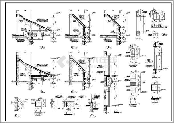 某小区新建会所建筑施工图(含设计说明)-图3