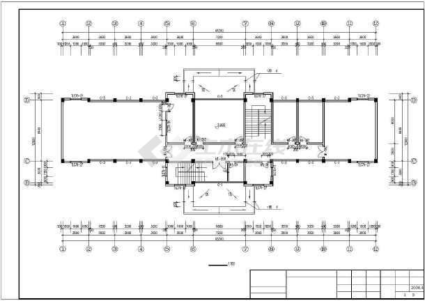 驾驶员考试中心建筑施工图纸-图1
