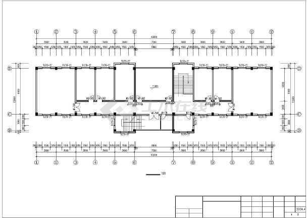 驾驶员考试中心建筑施工图纸-图3