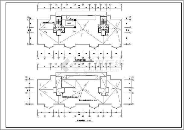 高层住宅楼全套建筑图-图二