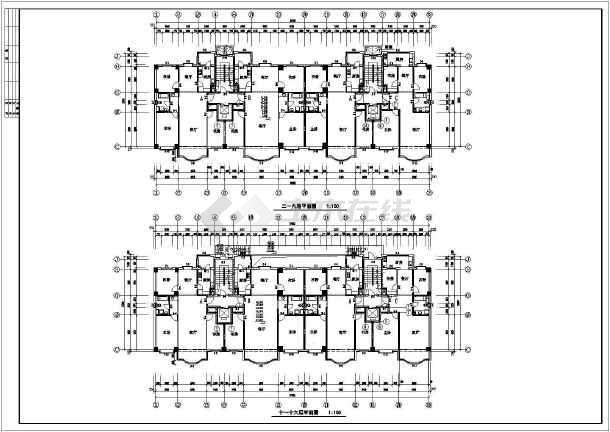 高层住宅楼全套建筑图-图2