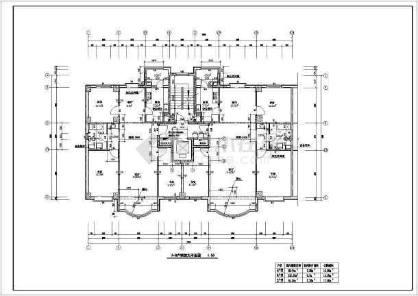 高层住宅楼全套建筑图-图3