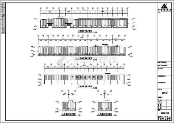点击查看某公司钢结构工程图纸cad第2张大图