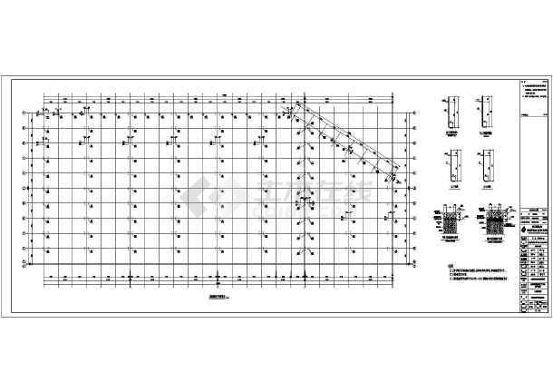 某公司钢结构布置CAD图-图1