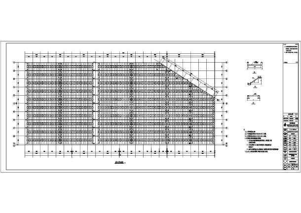 某公司钢结构布置CAD图-图2